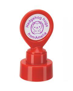 Personalised Charity Hedgehog Stamp