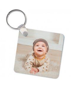 Personalised Photo Upload Square Key Ring