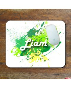 Personalised Name Paint Splat Mouse Mat