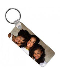Personalised Photo Upload Rectangular Key Ring