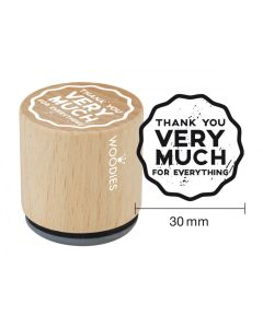 Woodies Rubber Stamp - Thank you very much for everything