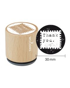 Woodies Rubber Stamp - Thank you