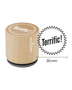 Woodies Rubber Stamp - Terrific