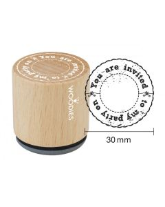 Woodies Rubber Stamp - You Are Invited