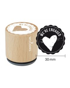 Woodies Rubber Stamp - We're Engaged