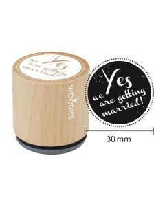 Woodies Rubber Stamp - Yes we are getting married