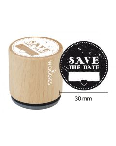 Woodies Rubber Stamp - Save the Date 2