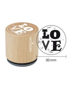 Woodies Rubber Stamp - Love