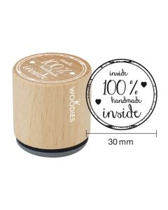 Woodies Rubber Stamp - 100% handmade inside
