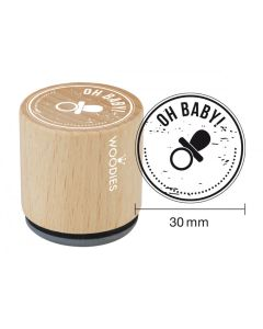 Woodies Rubber Stamp - Oh Baby