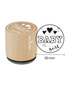 Woodies Rubber Stamp - Baby Girl