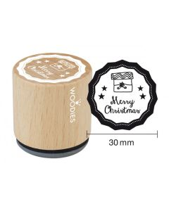 Woodies Rubber Stamp - Merry Christmas