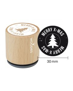 Woodies Rubber Stamp - Merry Xmas