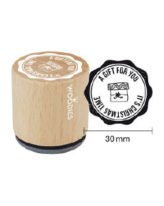 Woodies Rubber Stamp - It's Christmas Time