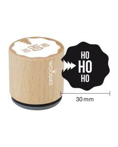 Woodies Rubber Stamp - Ho Ho Ho