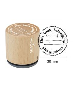 Woodies Rubber Stamp - This Book Belongs To