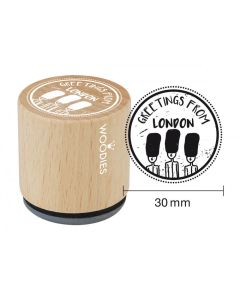 Woodies Rubber Stamp - Greetings, Grenadier Guards