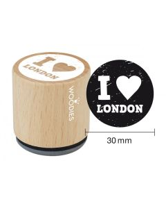 Woodies Rubber Stamp - I Love London