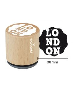 Woodies Rubber Stamp - LONDON