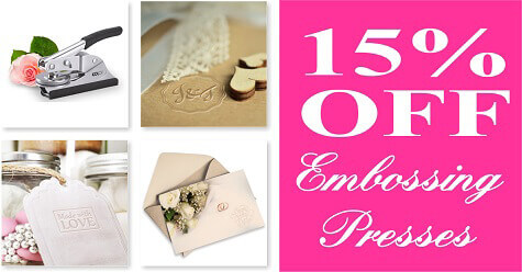 15% off Embossing Presses